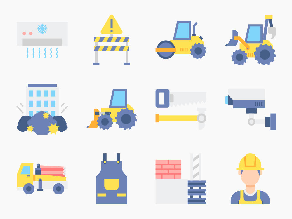 75 Construction Icon Set 4
