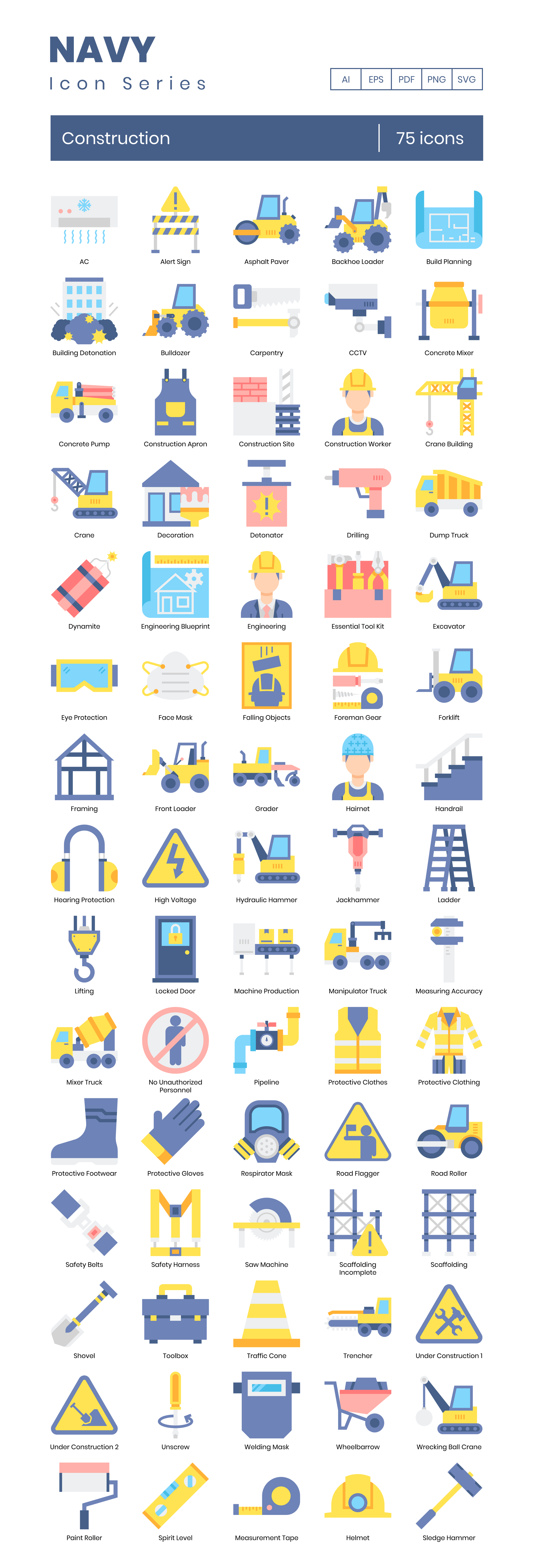 construction vector icons