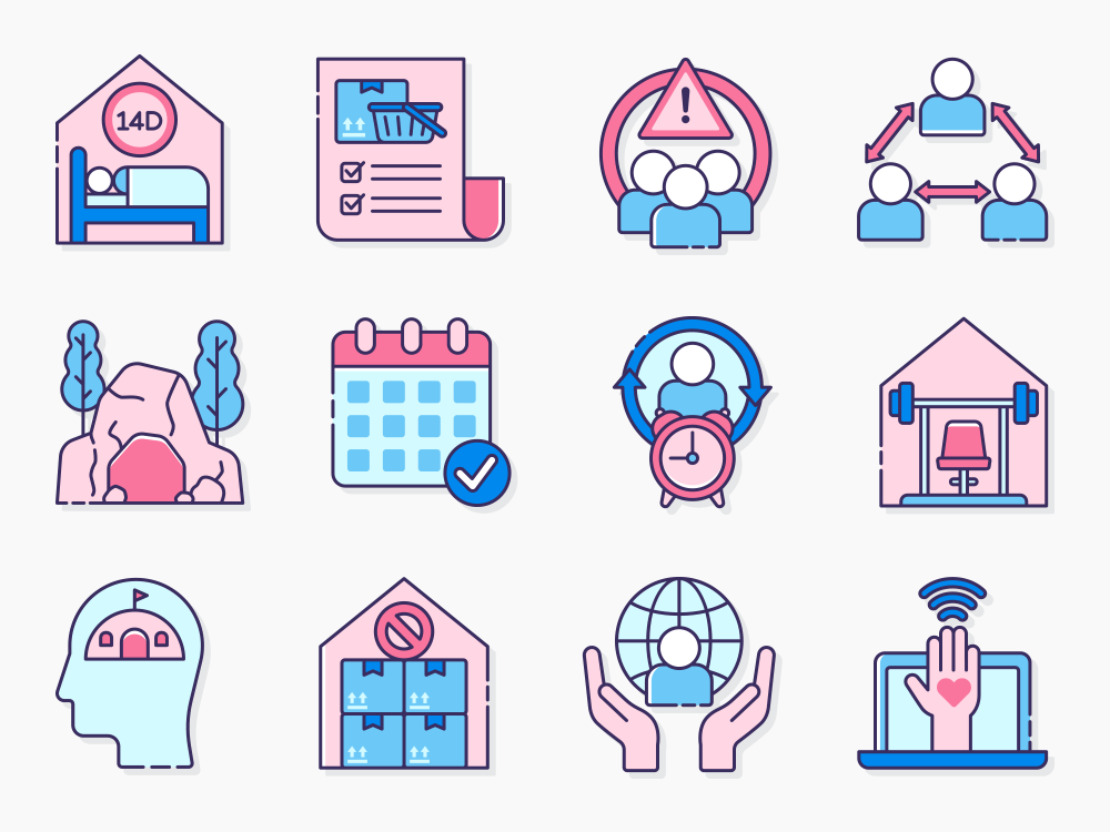 isolation vector icons