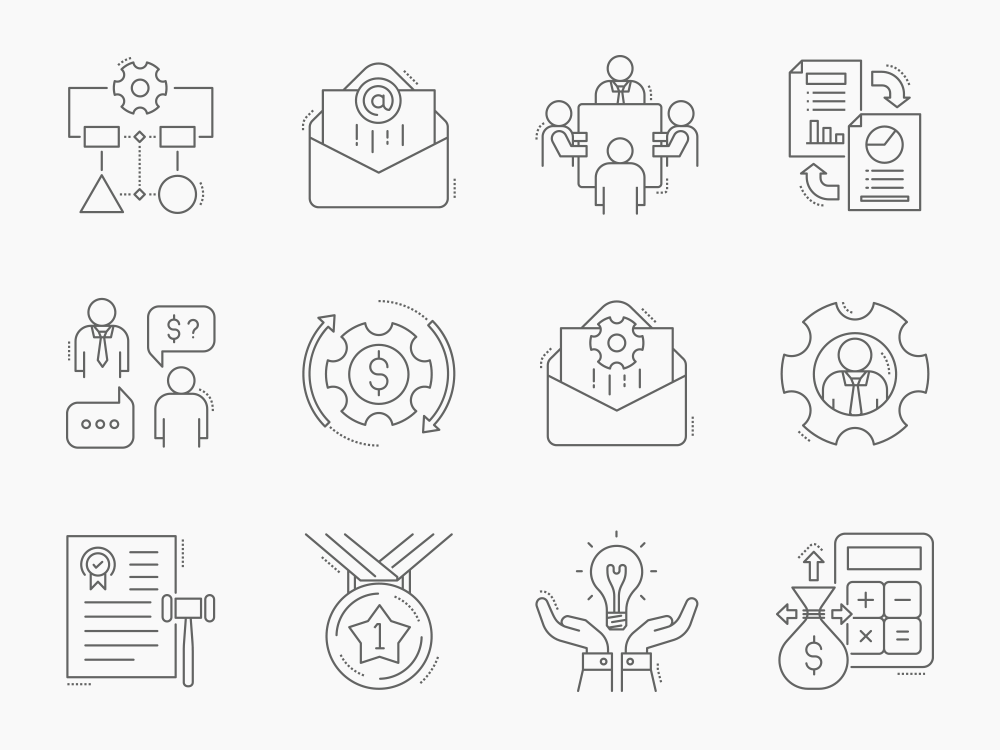 80 Project Management Icon Set 5