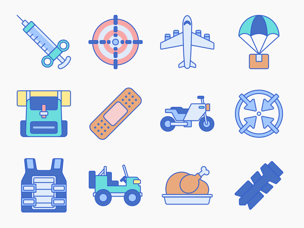 battle royale vector icons