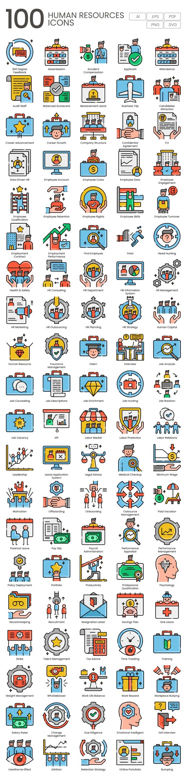 human resources vector icons