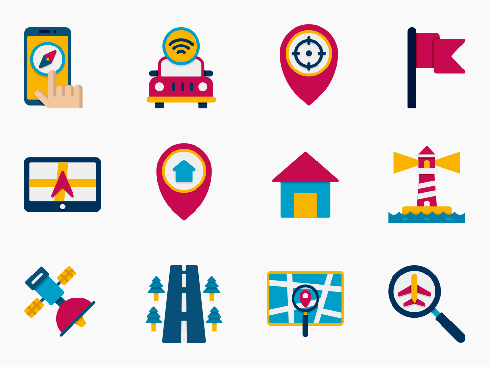 65 Map and Navigation Icon Set Featured Image