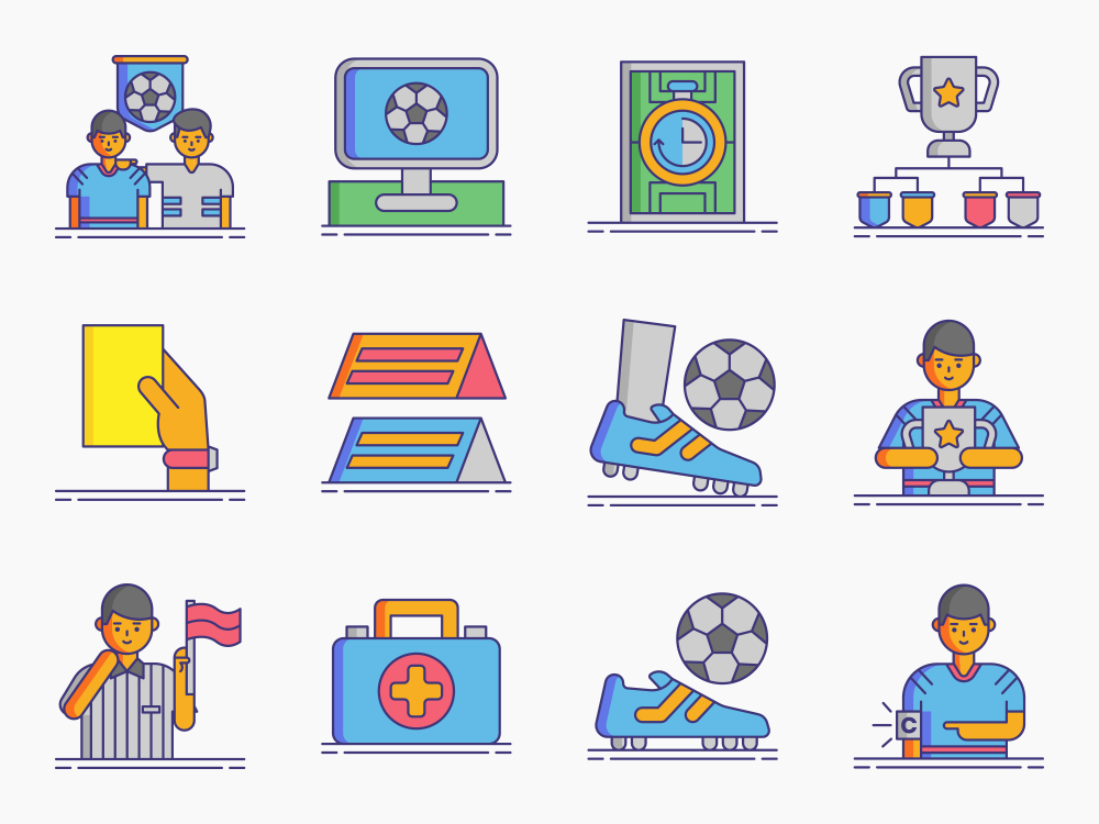 Football (Soccer) Icon Set Featured Image