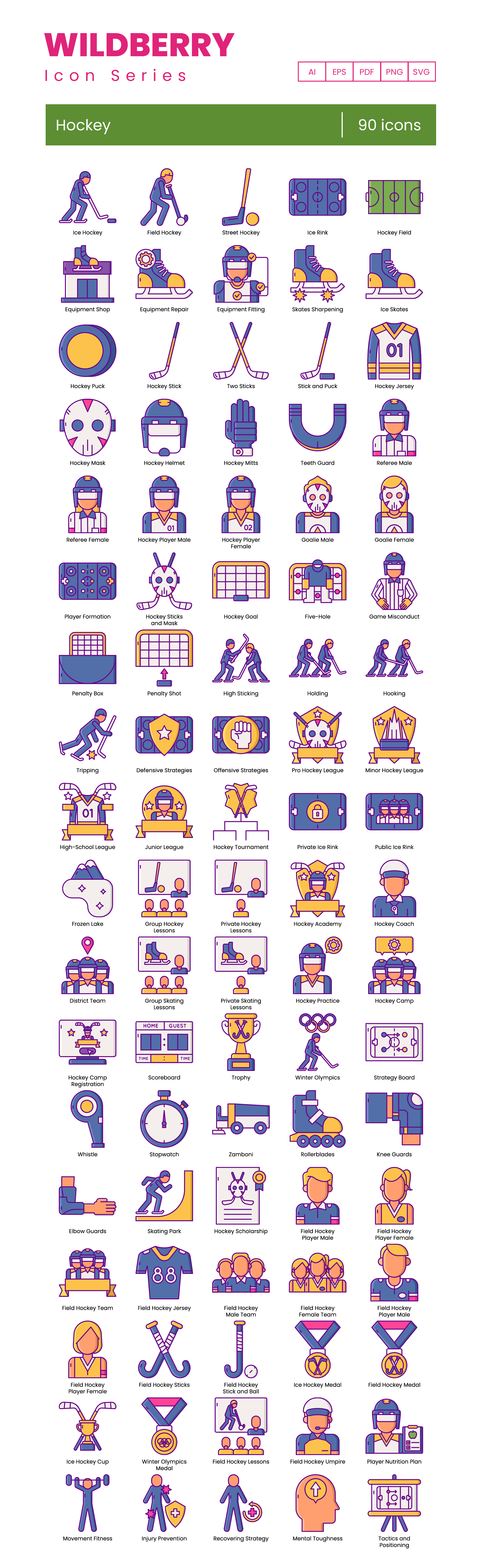 Hockey Vector Icons Preview Image