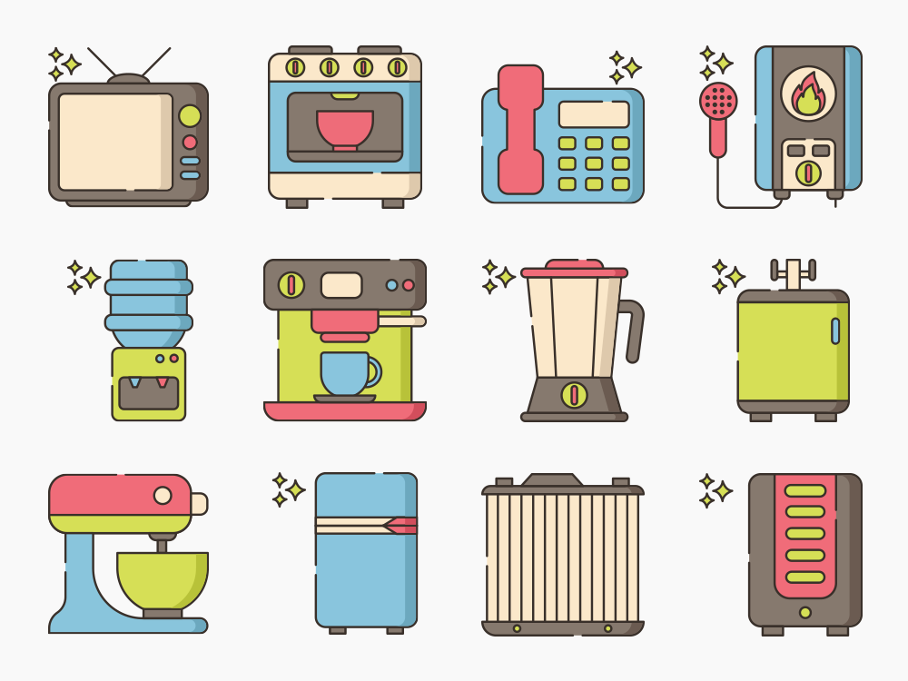 Home Appliance Icon Set Featured Image