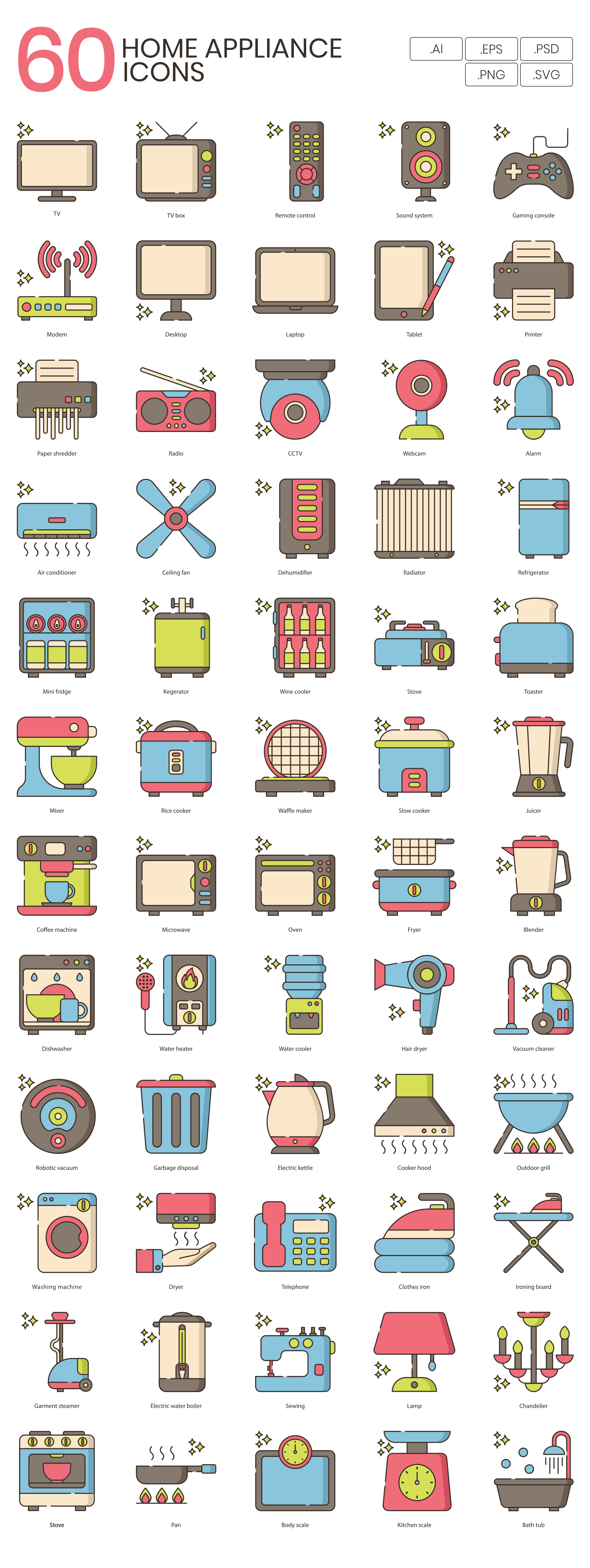 Home Appliance Vector Icons Preview Image