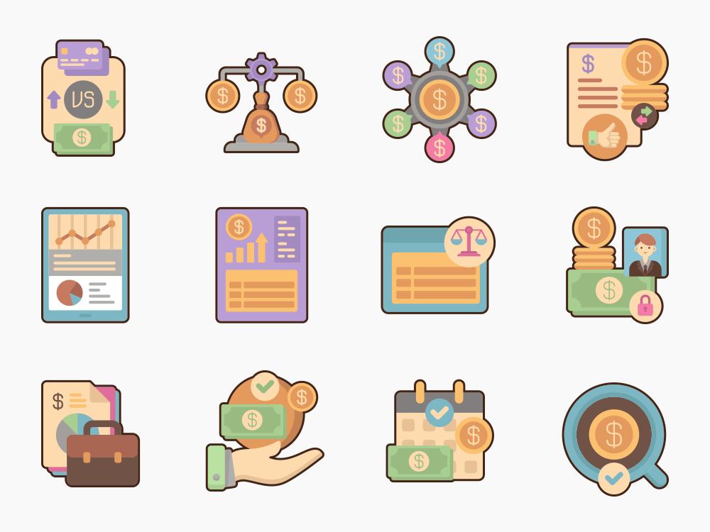 Accounting Icon Set Featured Image
