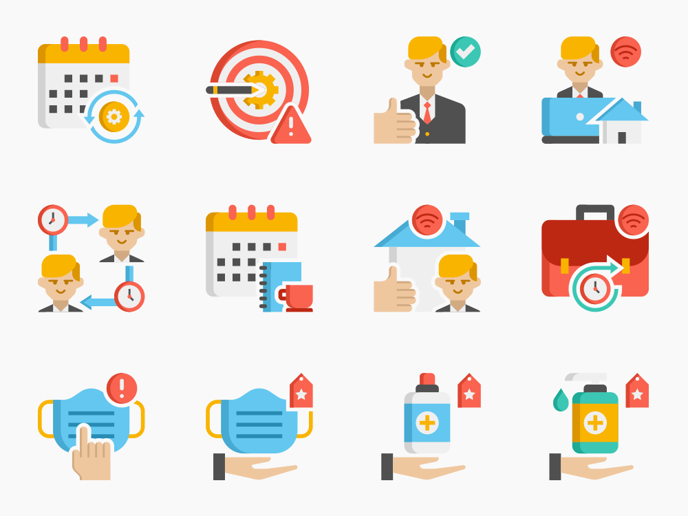 Back To Work Icon Set Featured Image