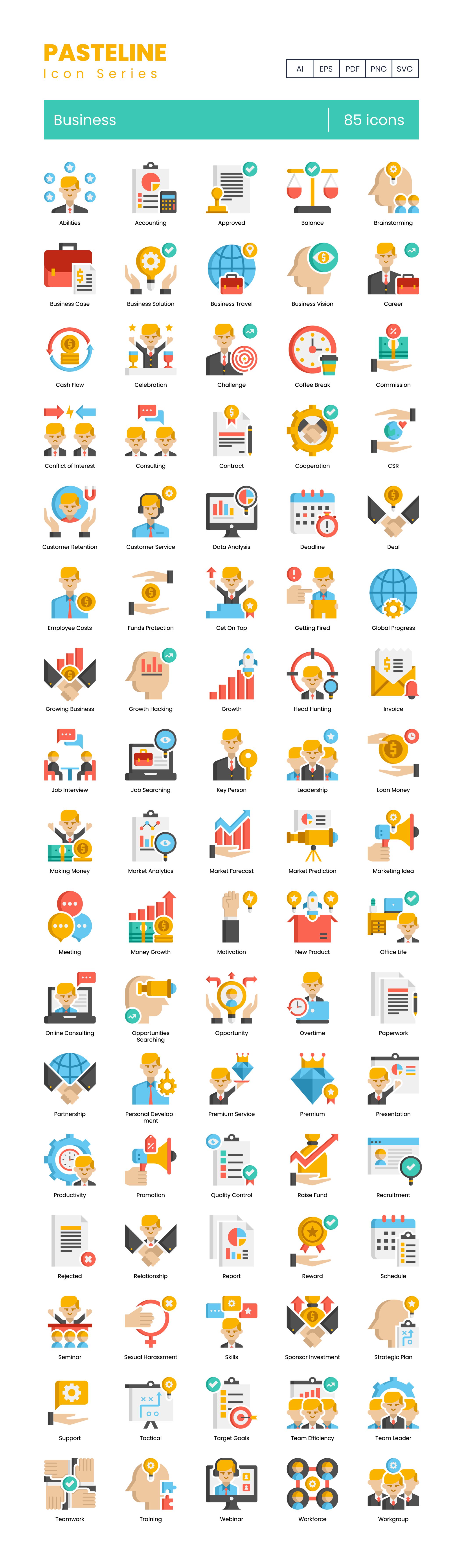 Business Vector Icons Preview Image