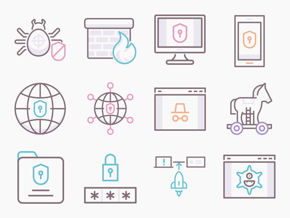 Cyber Security Icon Set Featured Image