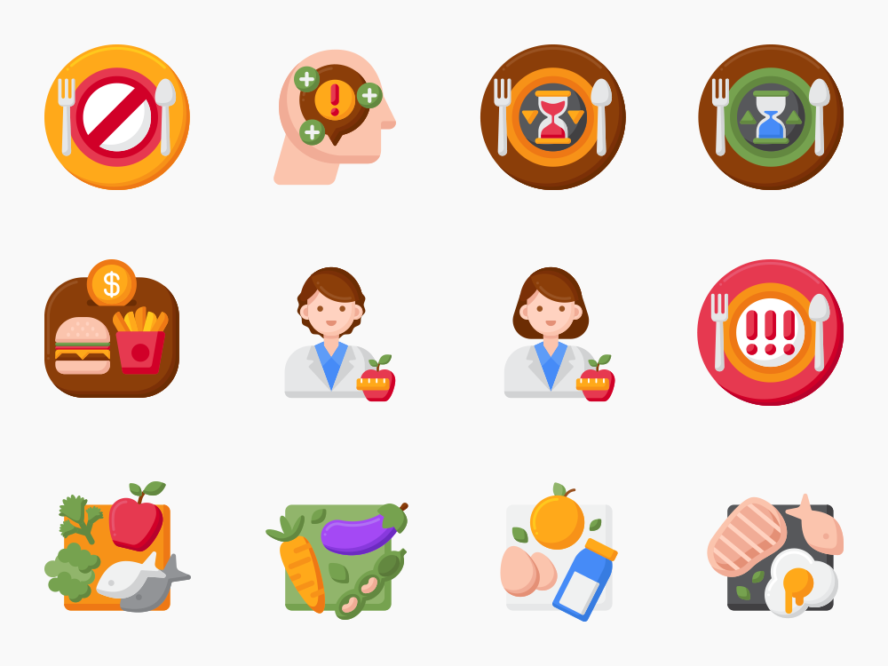 Dieting Icon Set Featured Image