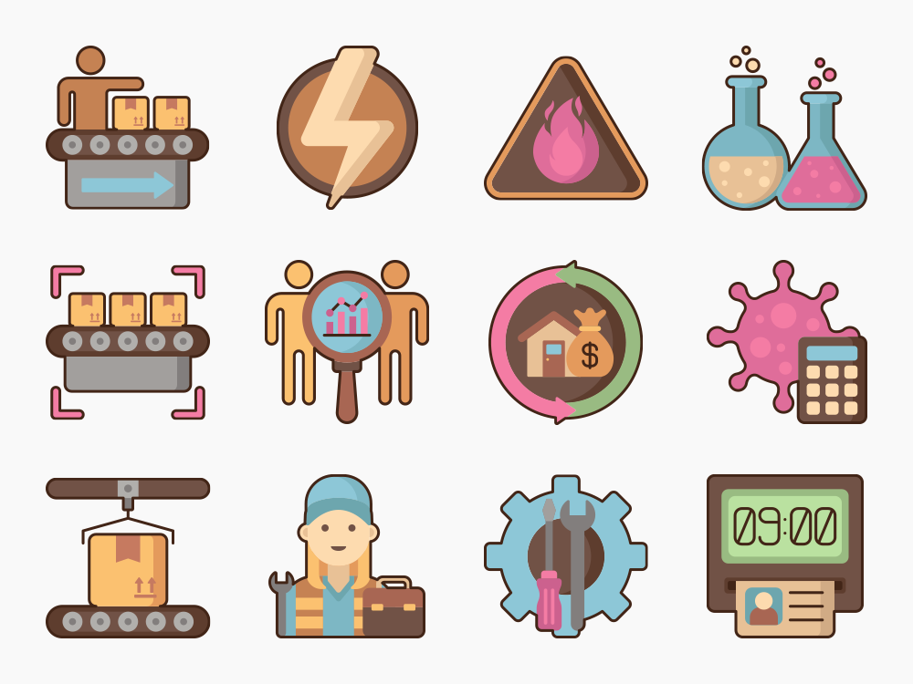 Factory Icon Set Featured Image