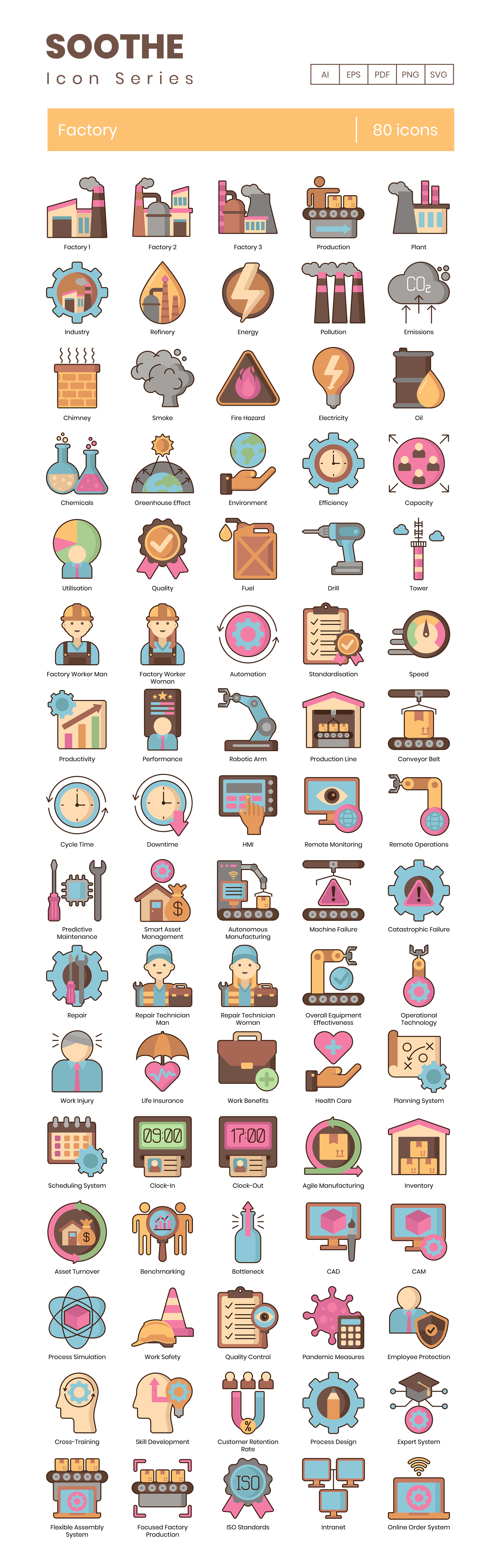 Factory Vector Icons Preview Image