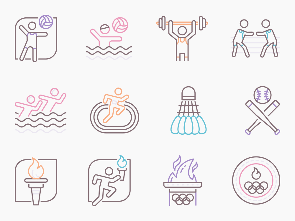 Summer Olympics Icon Set Featured Image