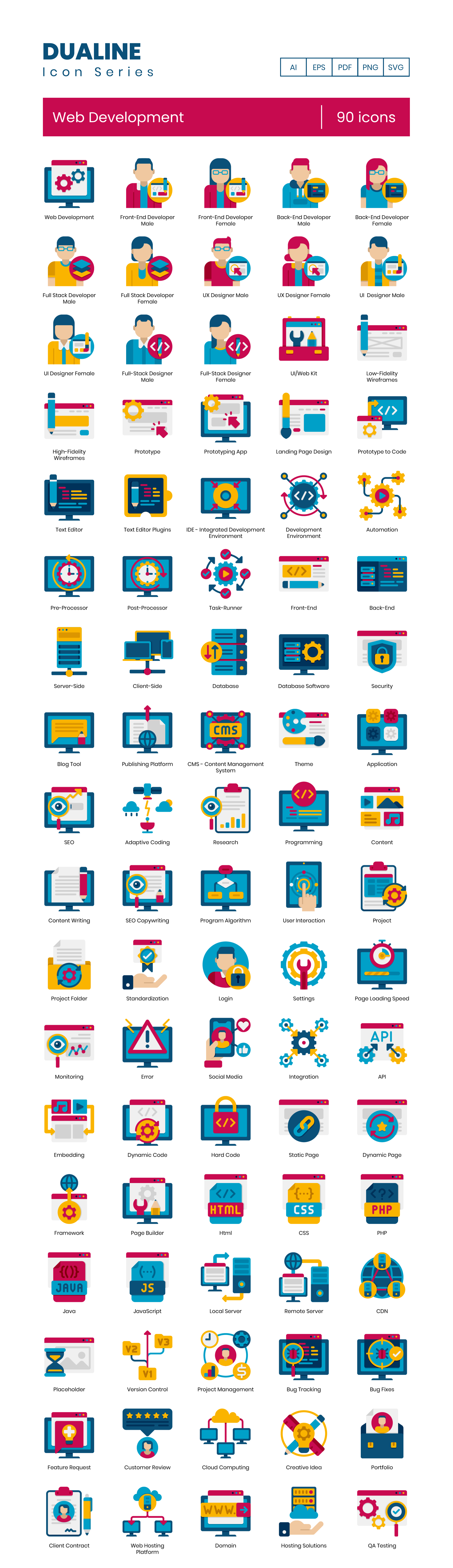 Web Development Vector Icons Preview Image
