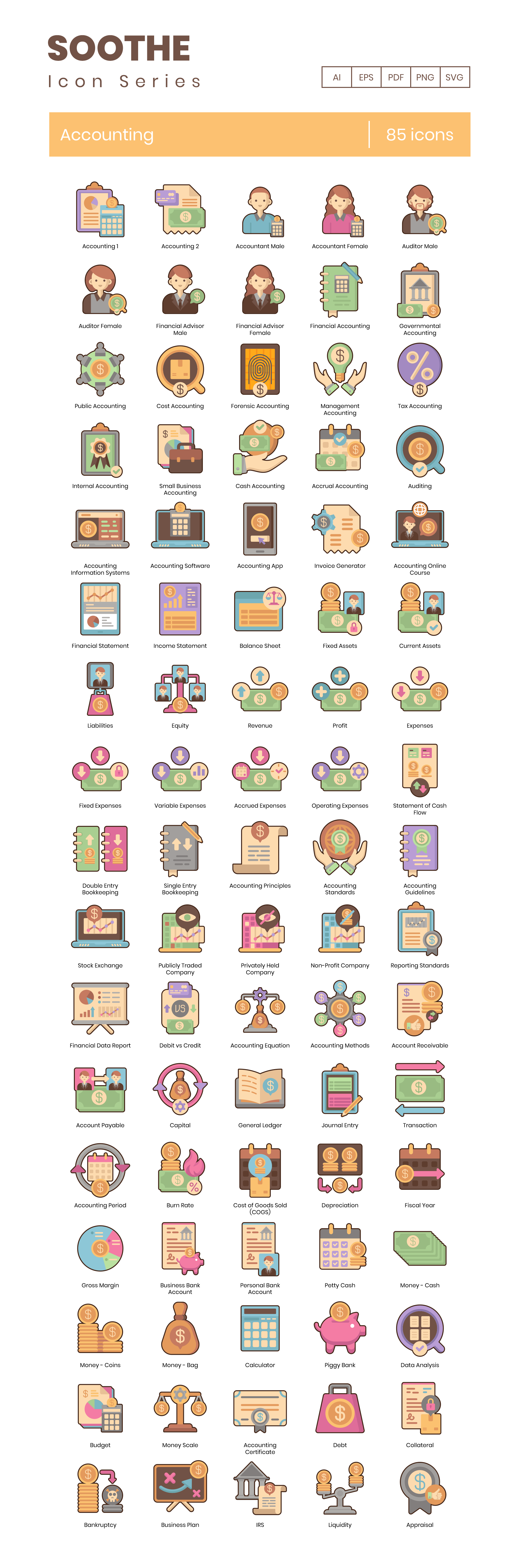 Accounting Vector Icons Preview Image