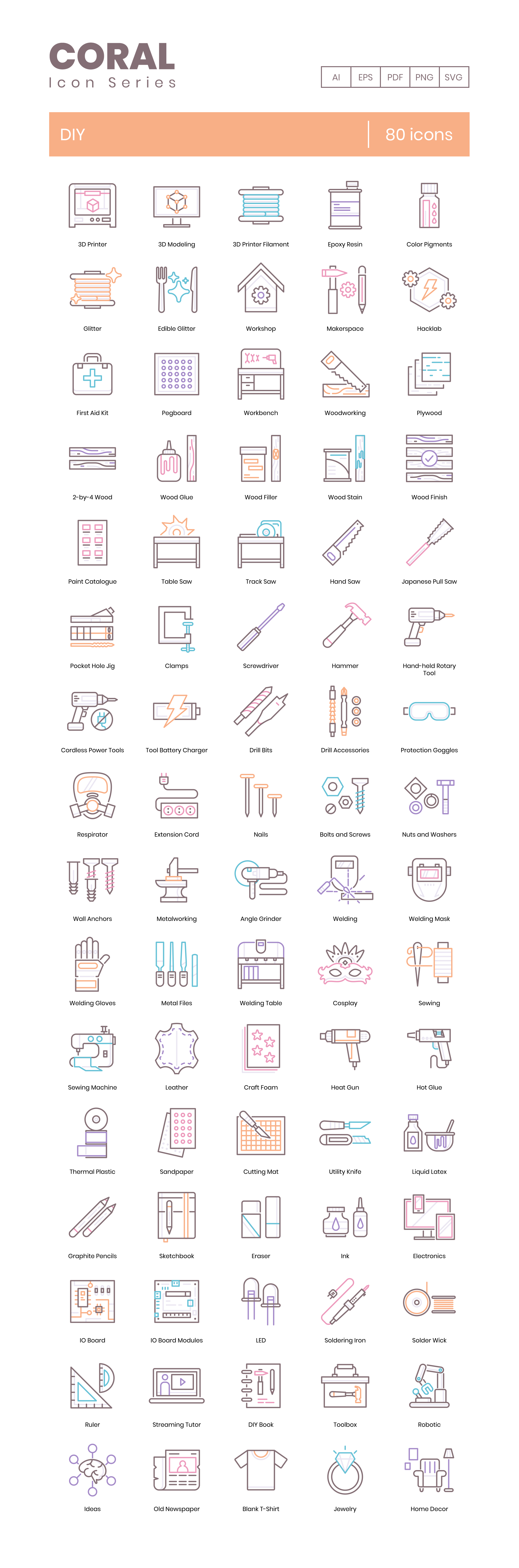 DIY Vector Icons Preview Image