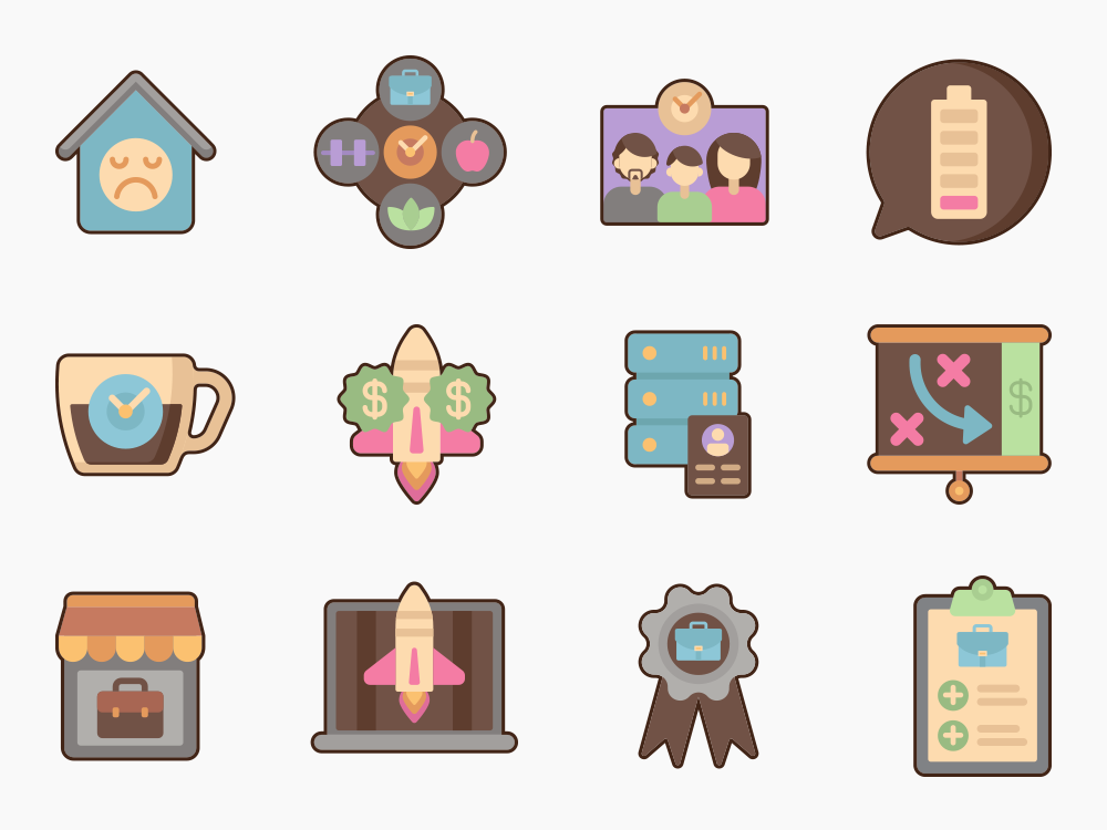 Home Based Business Icon Set Featured Image