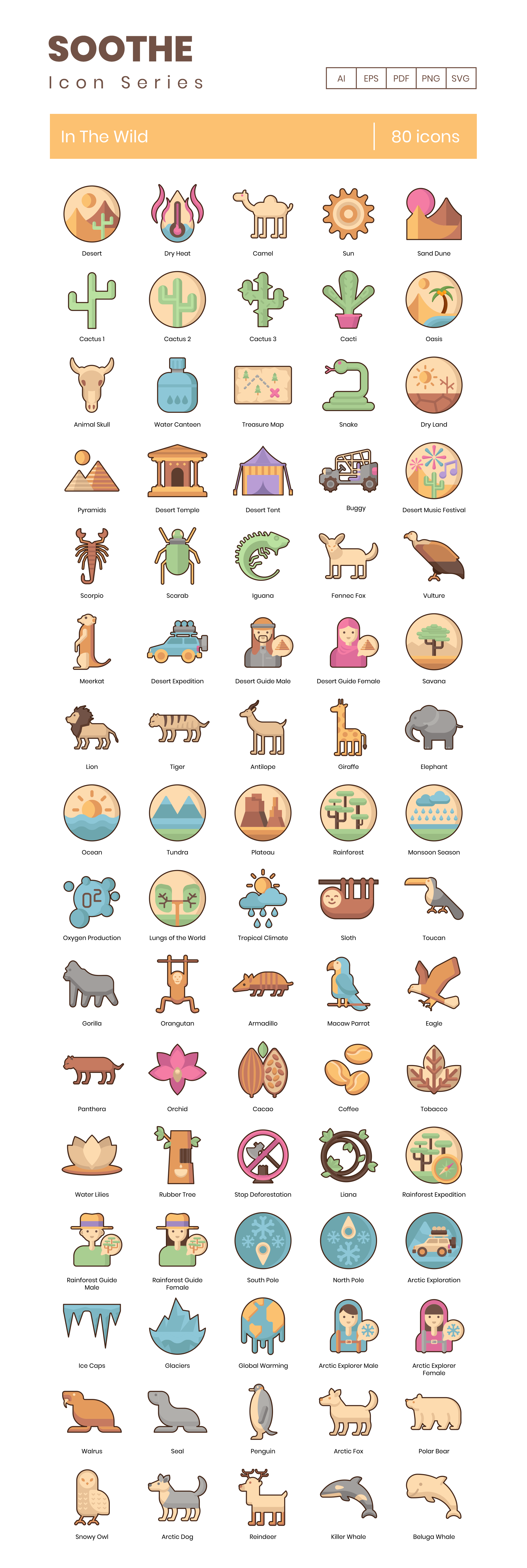 In The Wild Vector Icons Preview Image