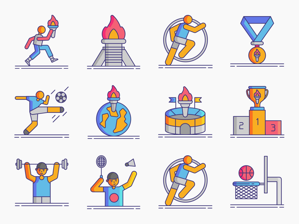 Olympic Games Icon Set Featured Image