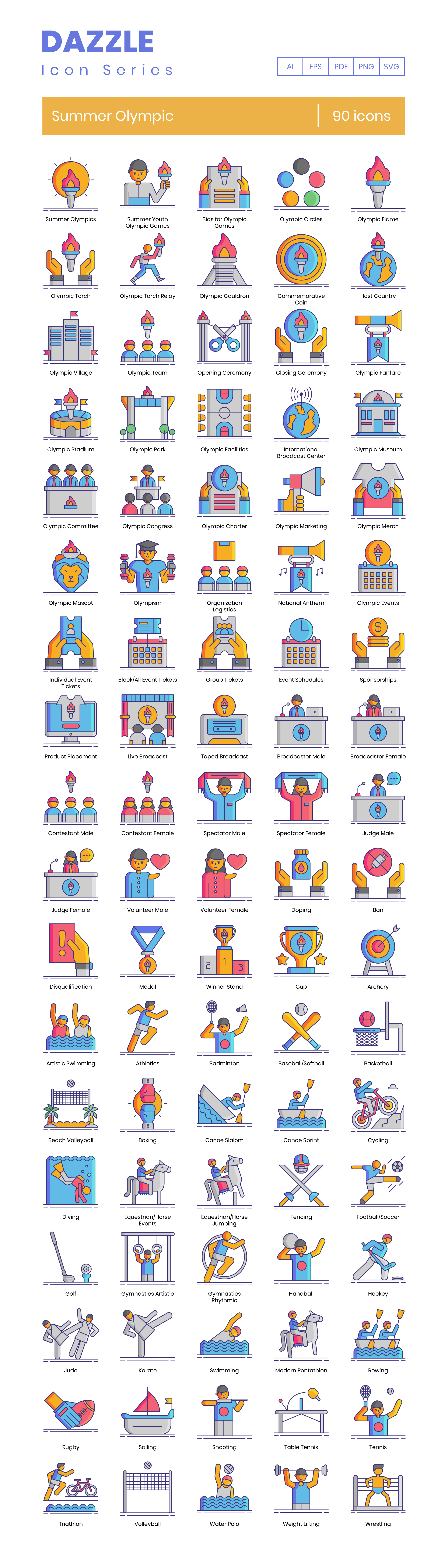 Olympic Games Vector Icons Preview Image