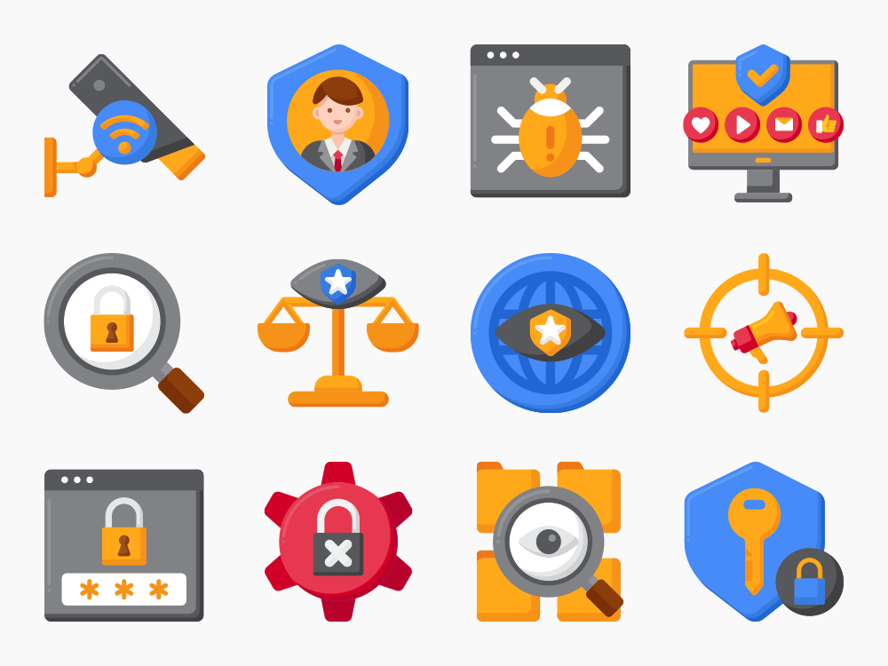 Privacy Icon Set Featured Image