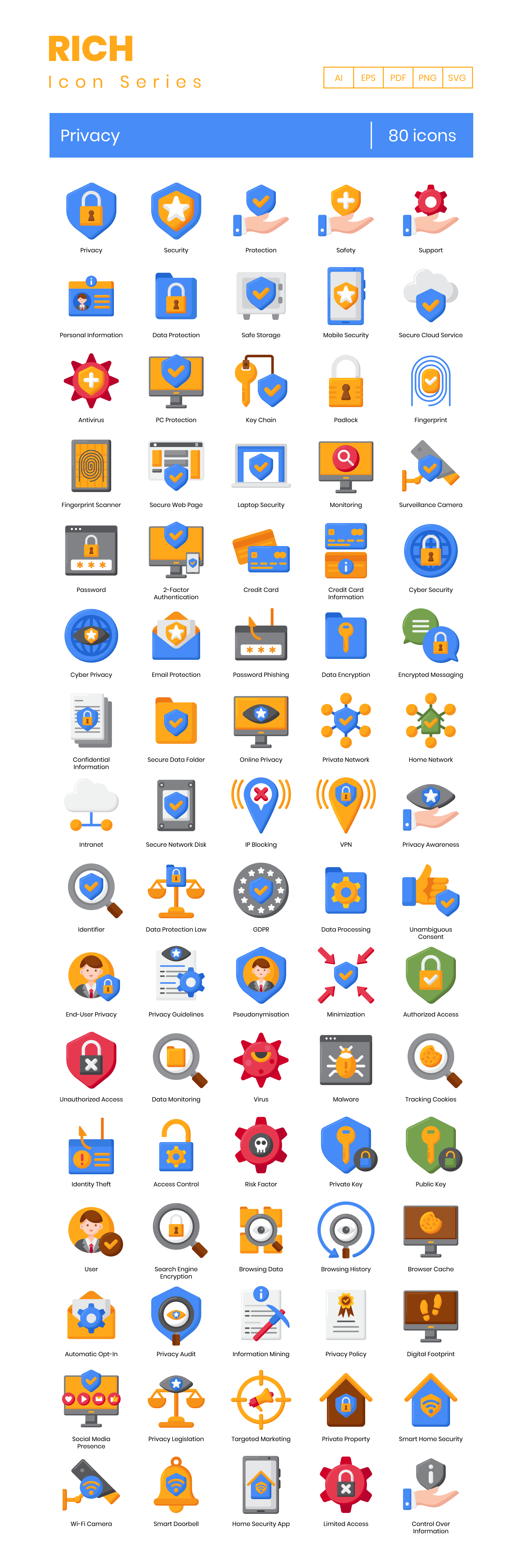 Privacy Vector Icons Preview Image