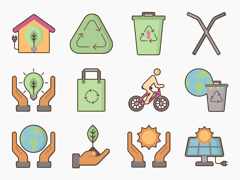 Sustainable Living Icon Set Featured Image