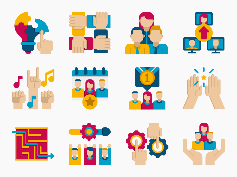 Team Building Icon Set Featured Image