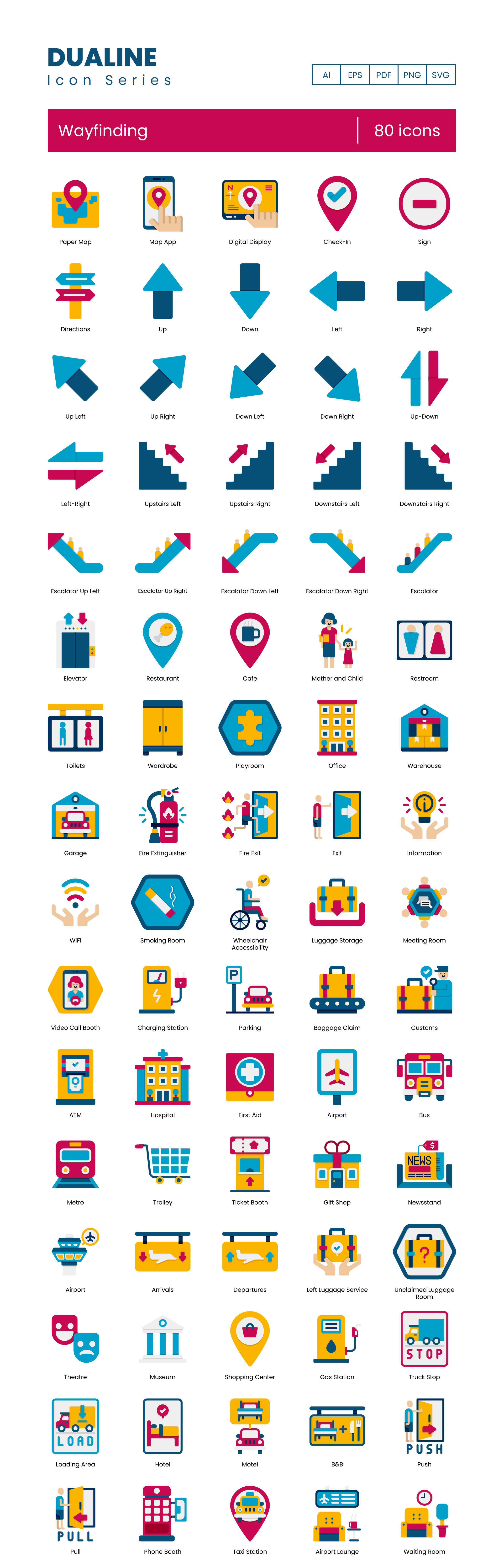 Wayfinding Vector Icons Preview Image