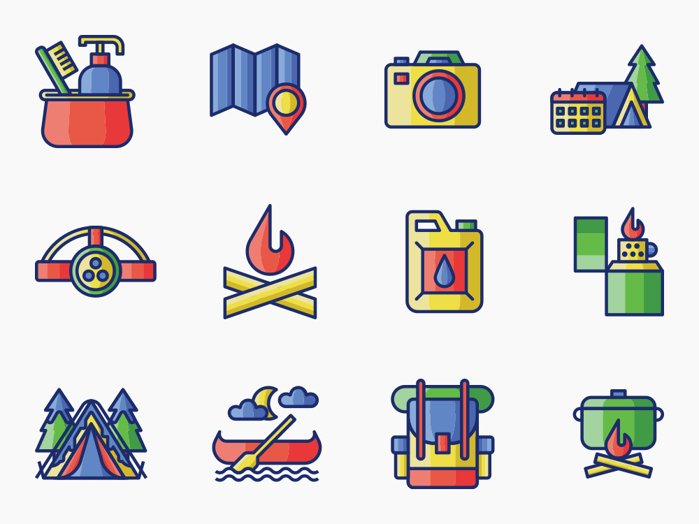 Camping Trip Icon Set Featured Image