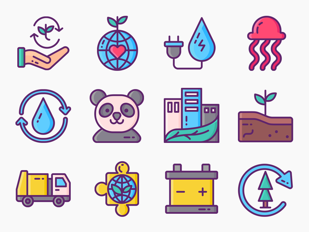 Environmental Science Icon Set Featured Image