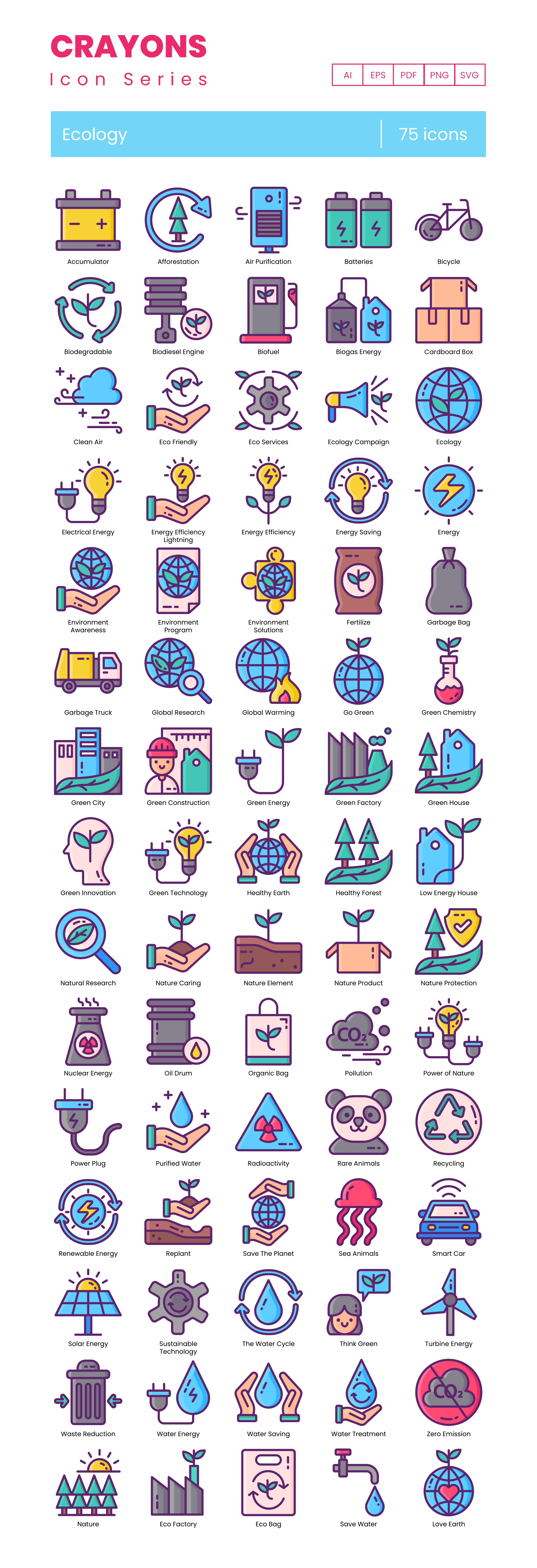Environmental Science Vector Icons Preview Image
