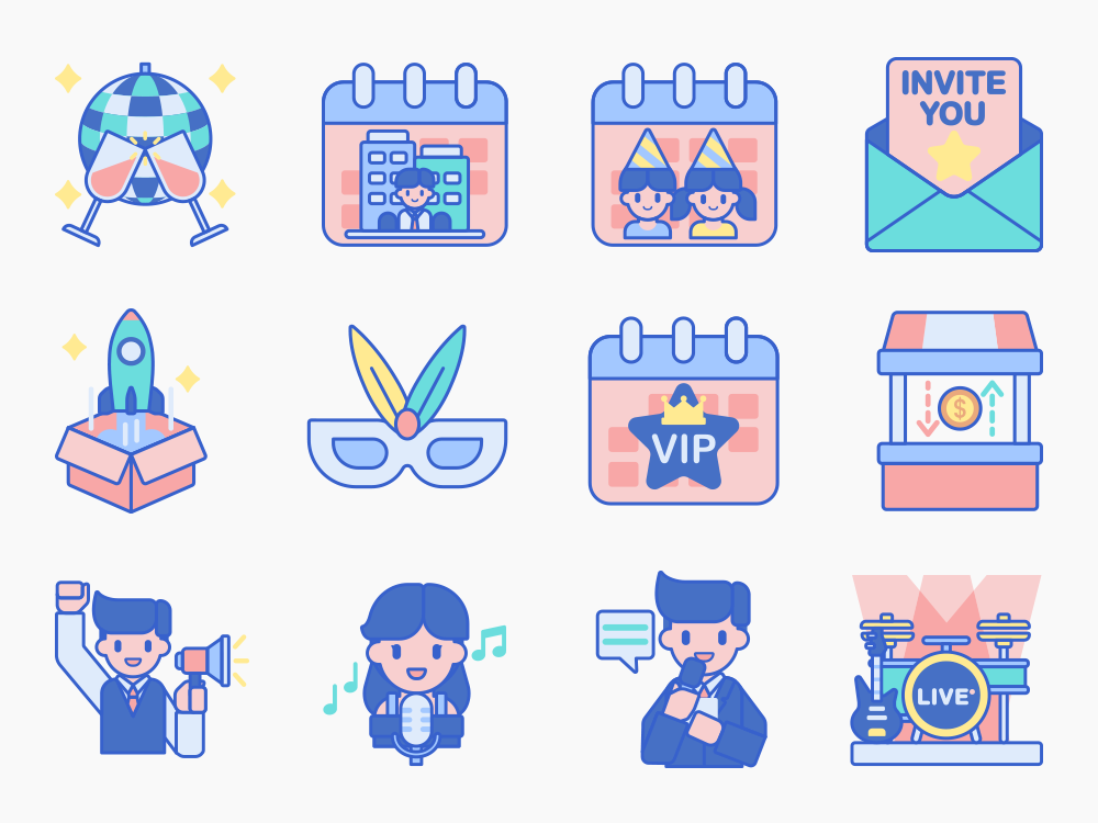 Event Management Icon Set Featured Image