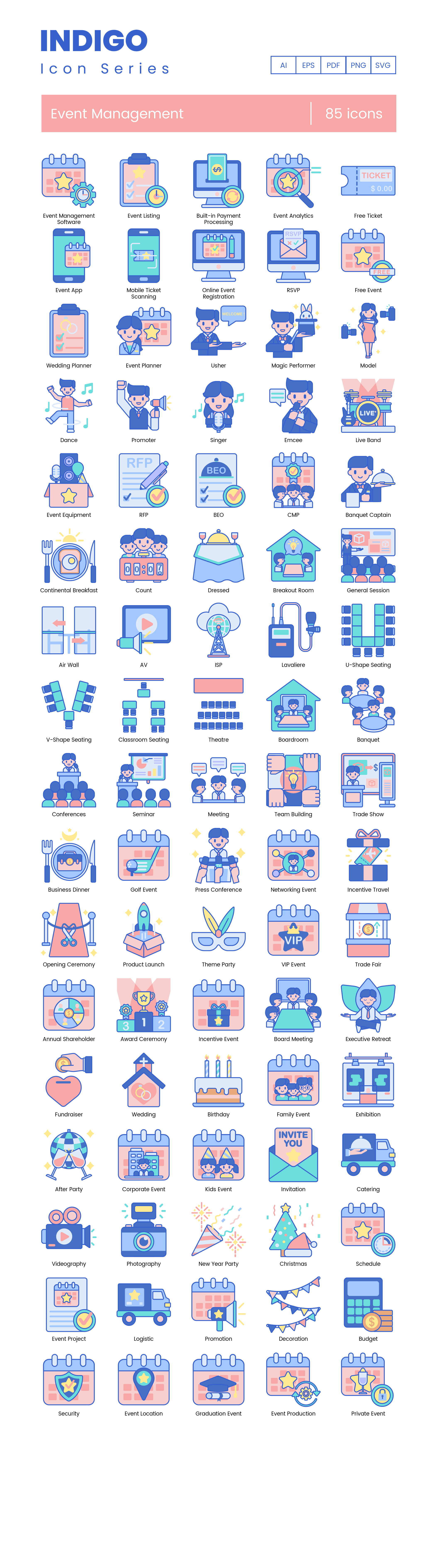 Event Management Vector Icons Preview Image