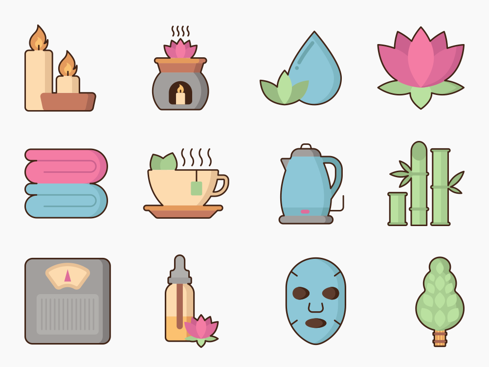 Spa Icon Set Featured Image