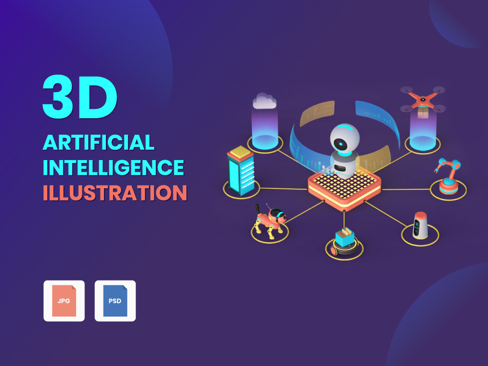 3D Artificial Intelligence Illustration Featured Image