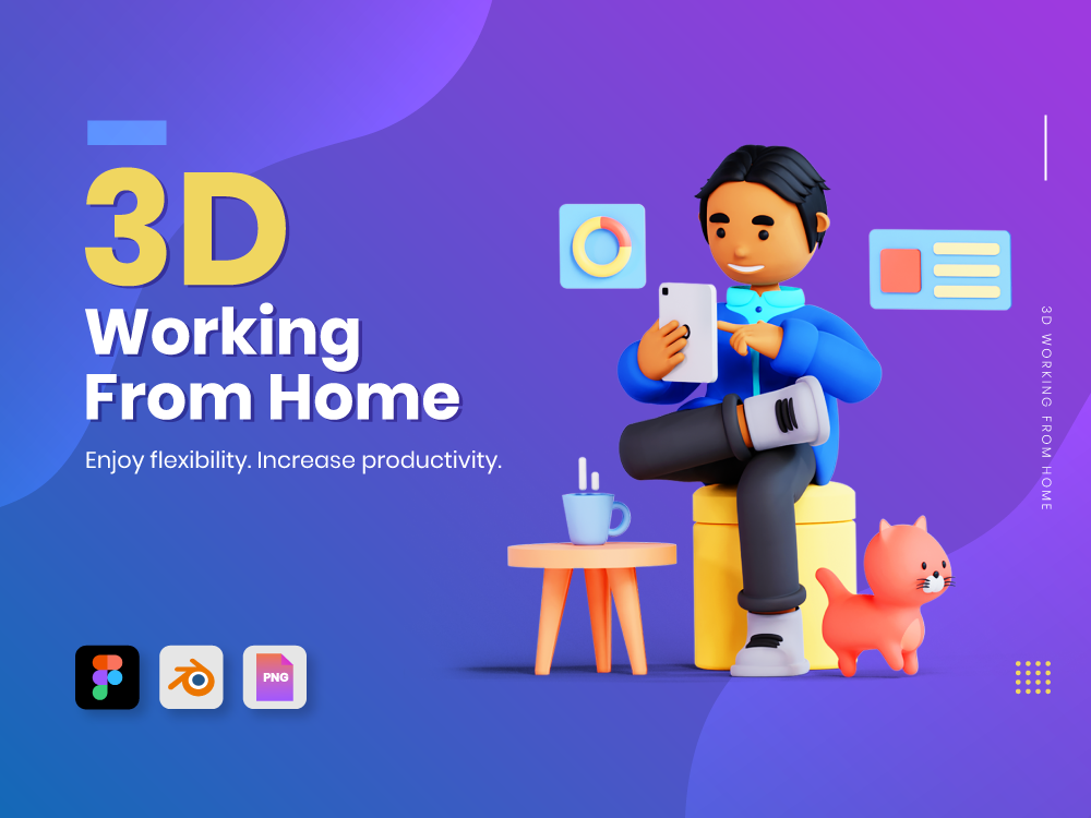 3D Working From Home Featured Image