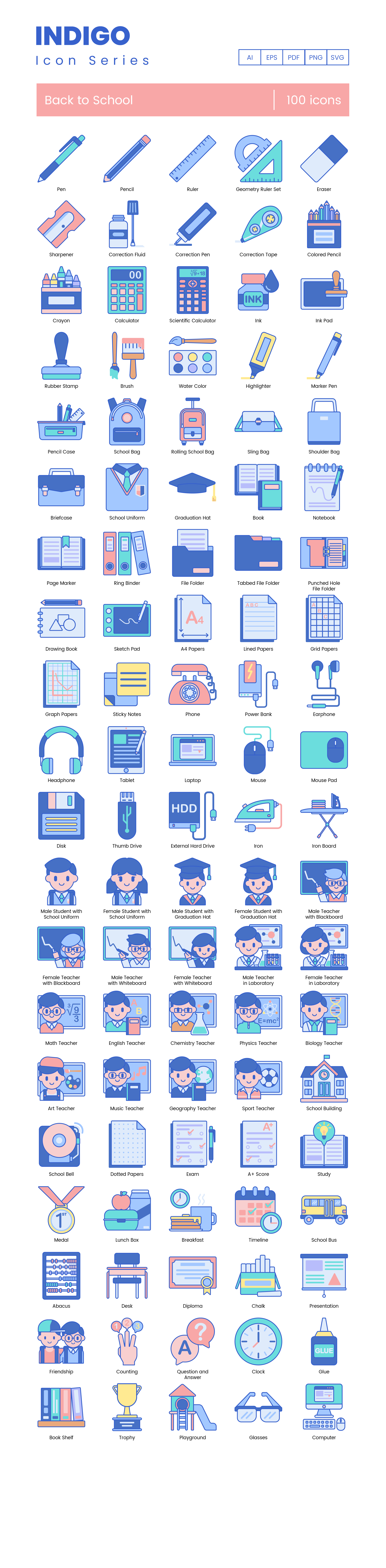 Preview Image for Back to School Icon Set