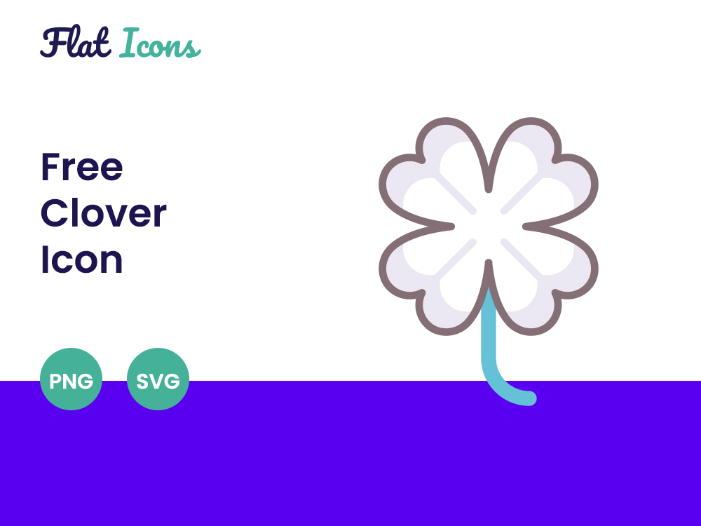 Free Clover PNG and SVG Icon 1