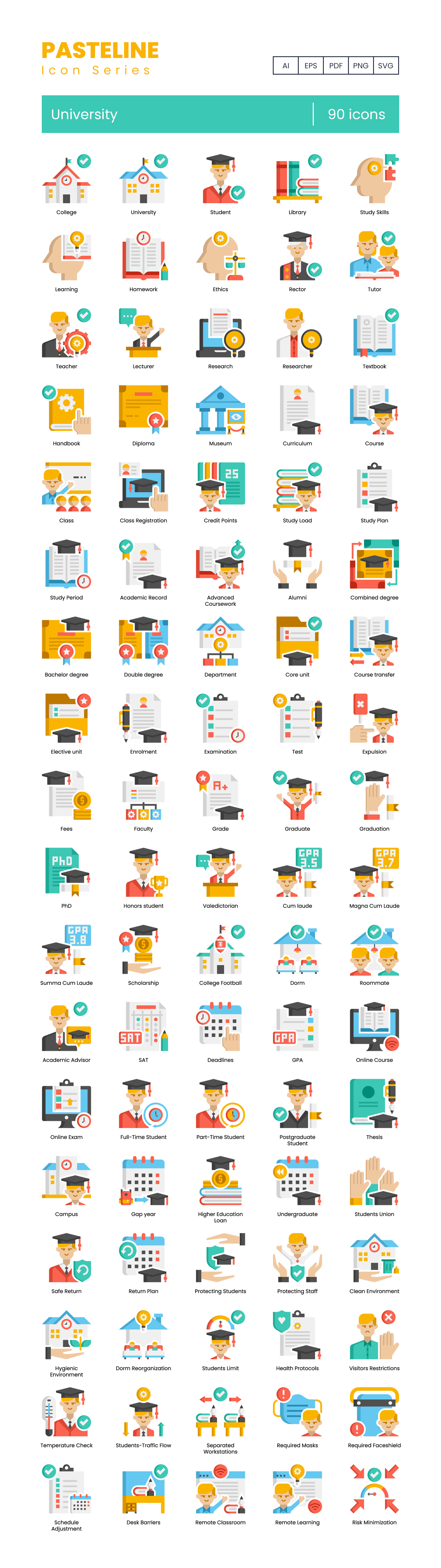 College Vector Icons Preview Image