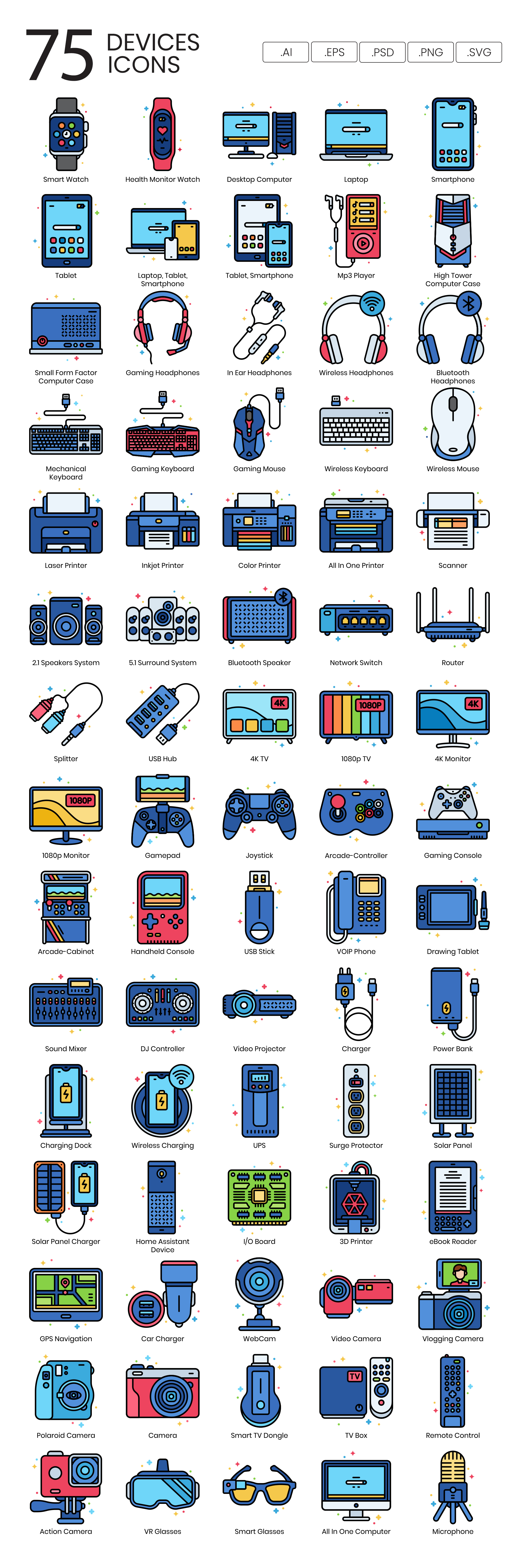 Preview Image for Devices Icon Set