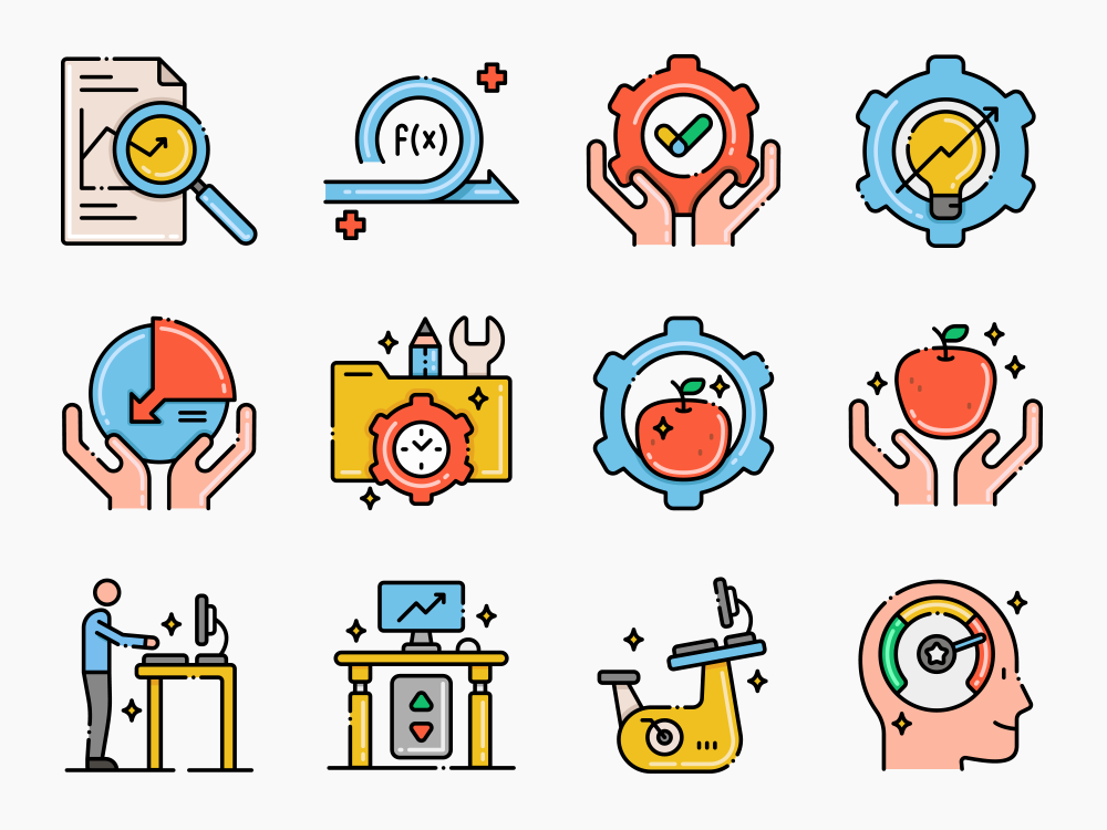 Efficiency and Productivity Icon Set Featured Image