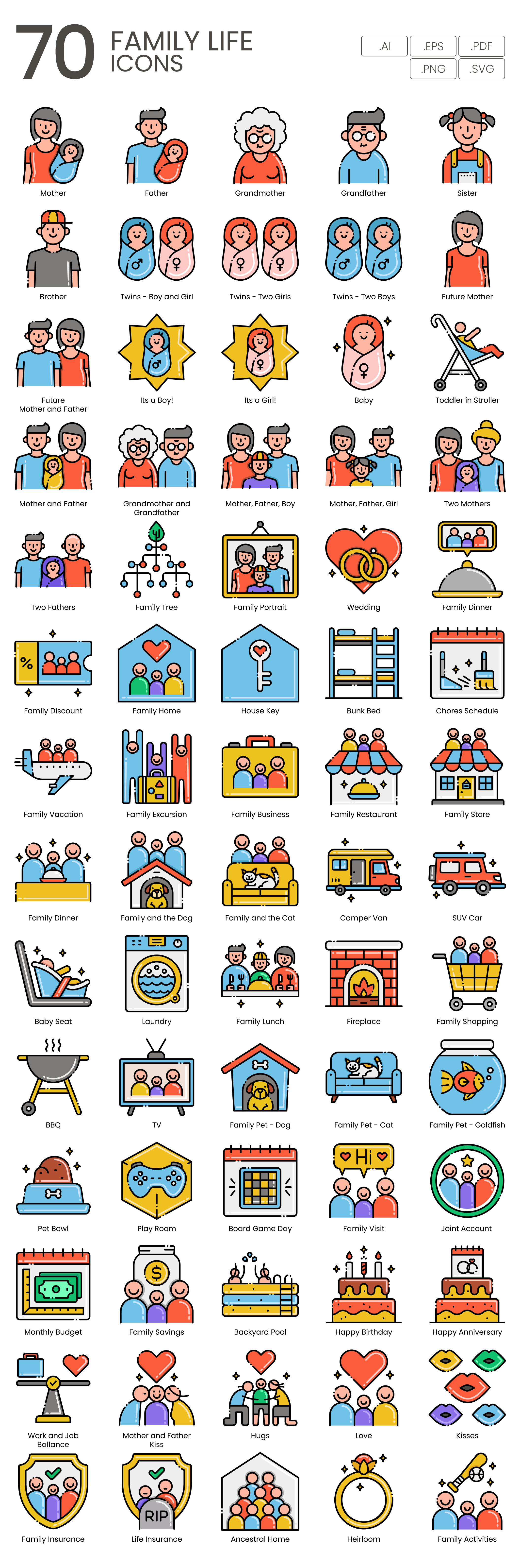 Home Life Vector Icons Preview Image