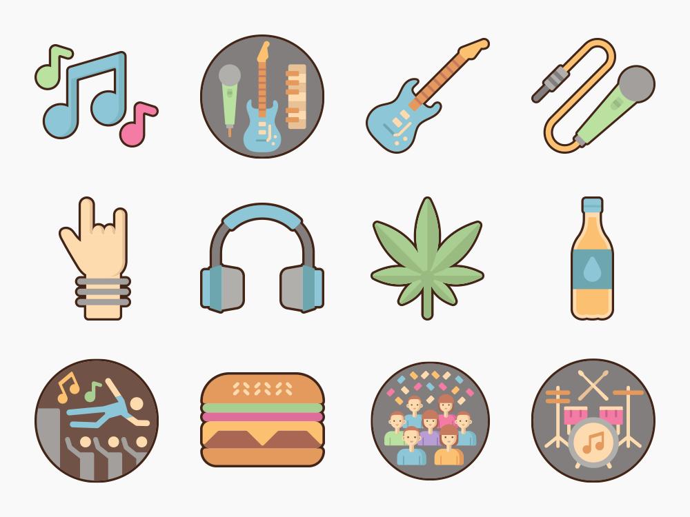 Music Festival Icon Set Featured Image
