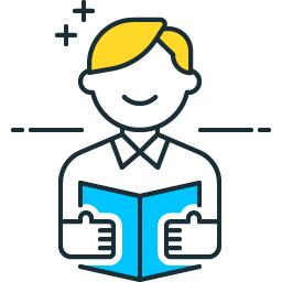 Reading Icon in PNG Format