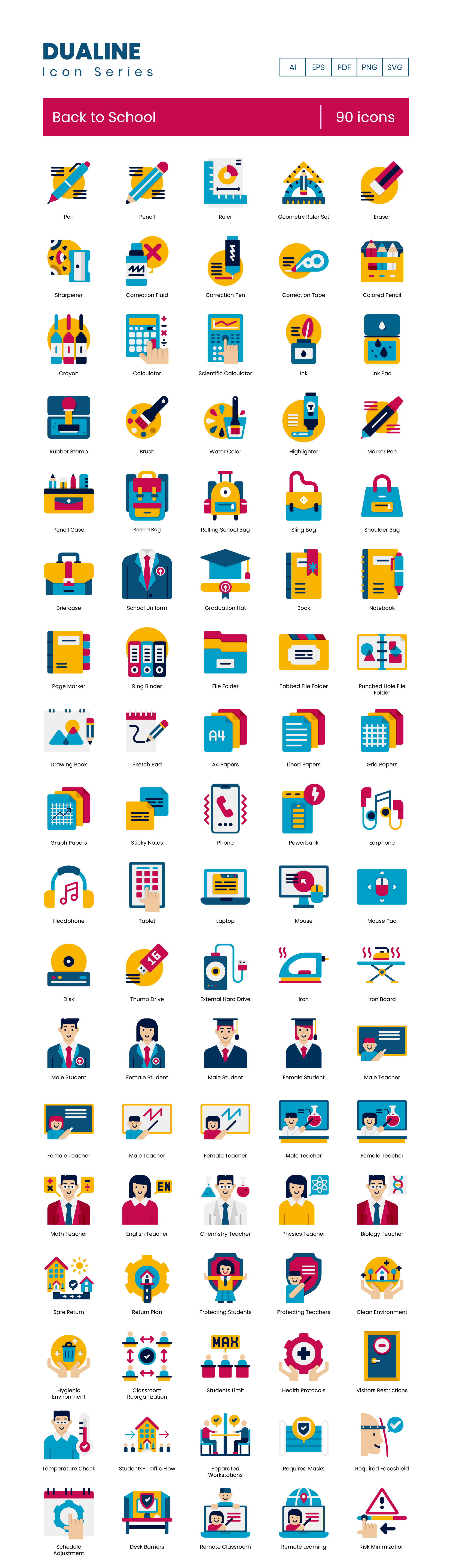 Return to School Vector Icons Preview Image