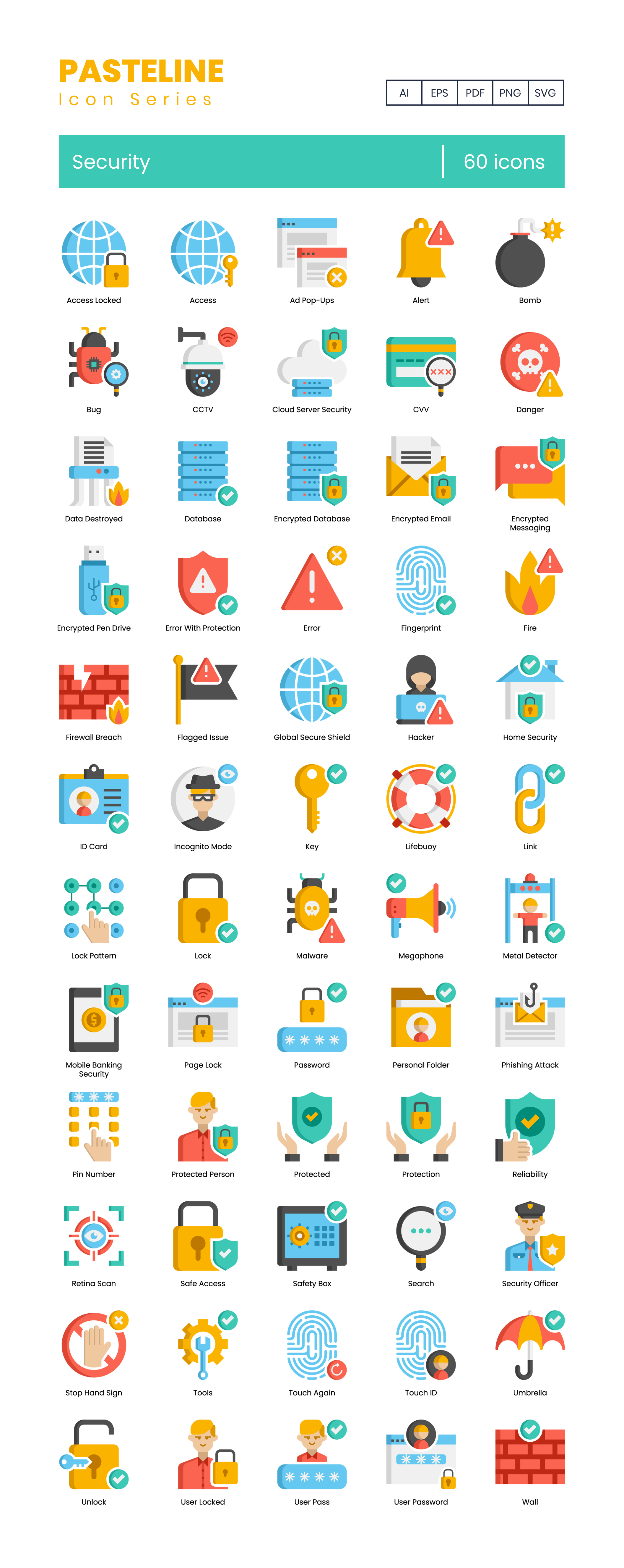 Preview Image for Security Icon Set