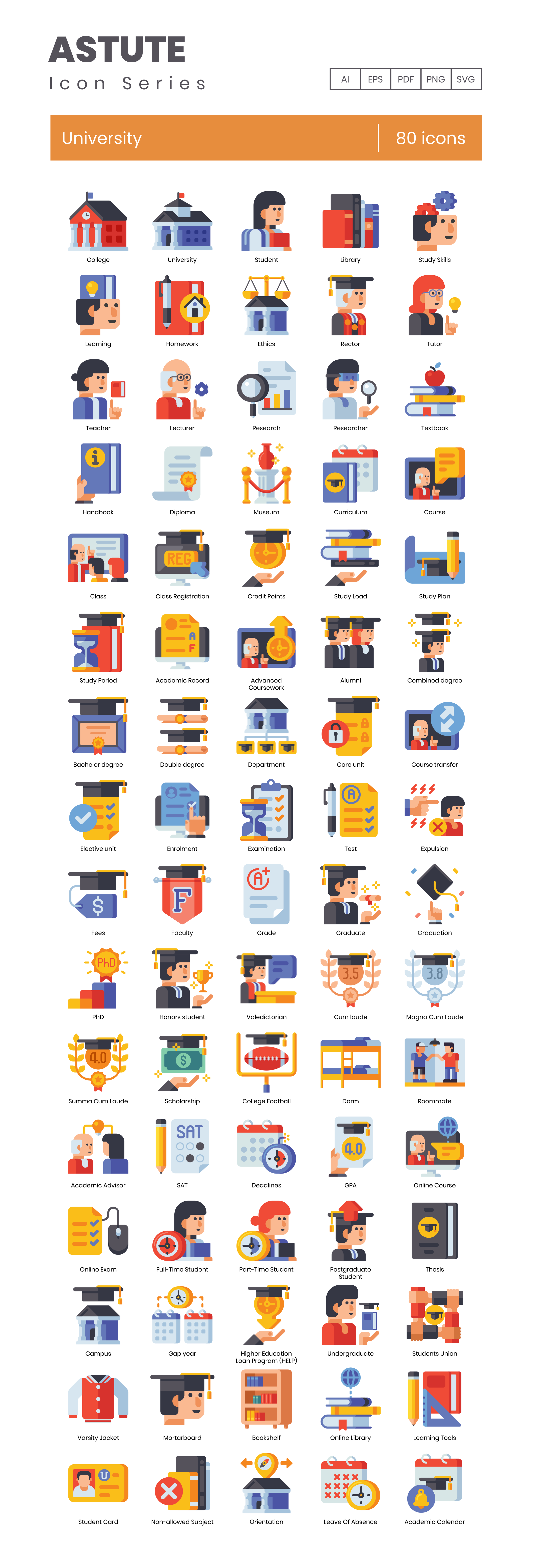 Preview Image for University Icon Set